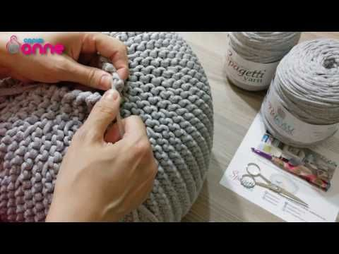 Pleasing Very Easy Crochet Pouf Tutorial Crochet Cushion Foot Squirreltailoven Fun Painted Chair Ideas Images Squirreltailovenorg
