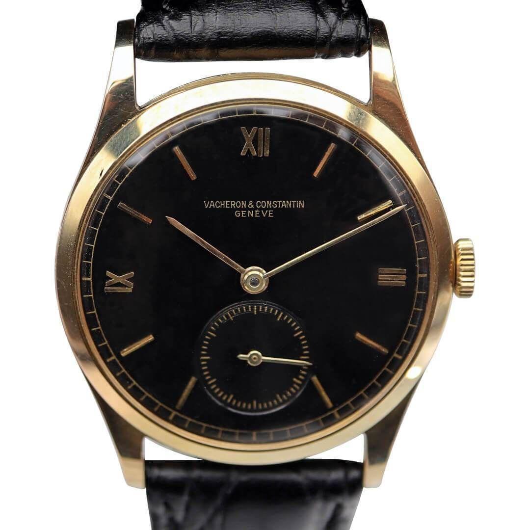 Vacheron Constantin 18k Gold Black Dial Men S Vintage Watch Vintage Watches For Men Vintage Watches For Sale Men S Vintage Watch