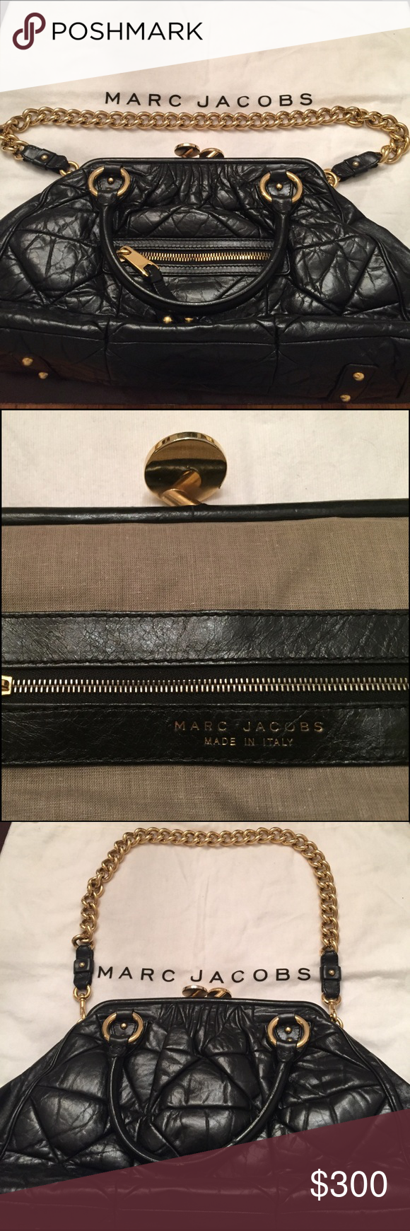 Marc Jacobs Black Stam Satchel Marc Jacobs Stam Satchel. Great Condition inside and out. Barely used! Like New! Marc Jacobs Bags Satchels