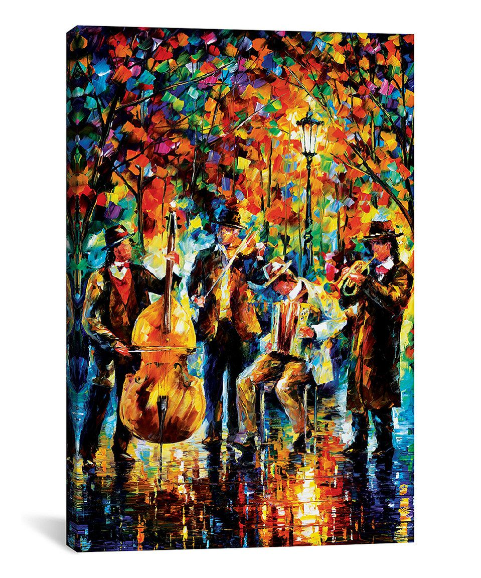 Leonid Afremov Glowing Music Wrapped Canvas Music Canvas Oil Painting On Canvas Music Painting