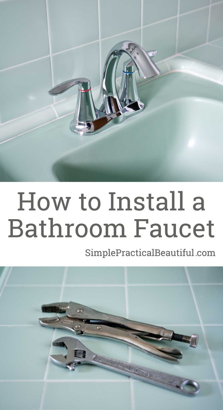 How To Install A Bathroom Faucet Simple Practical Beautiful Faucets Diy Replace Bathroom Faucet Bathroom Faucets