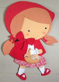 Chapeuzinho Vermelho em EVA, 70cm de altura.