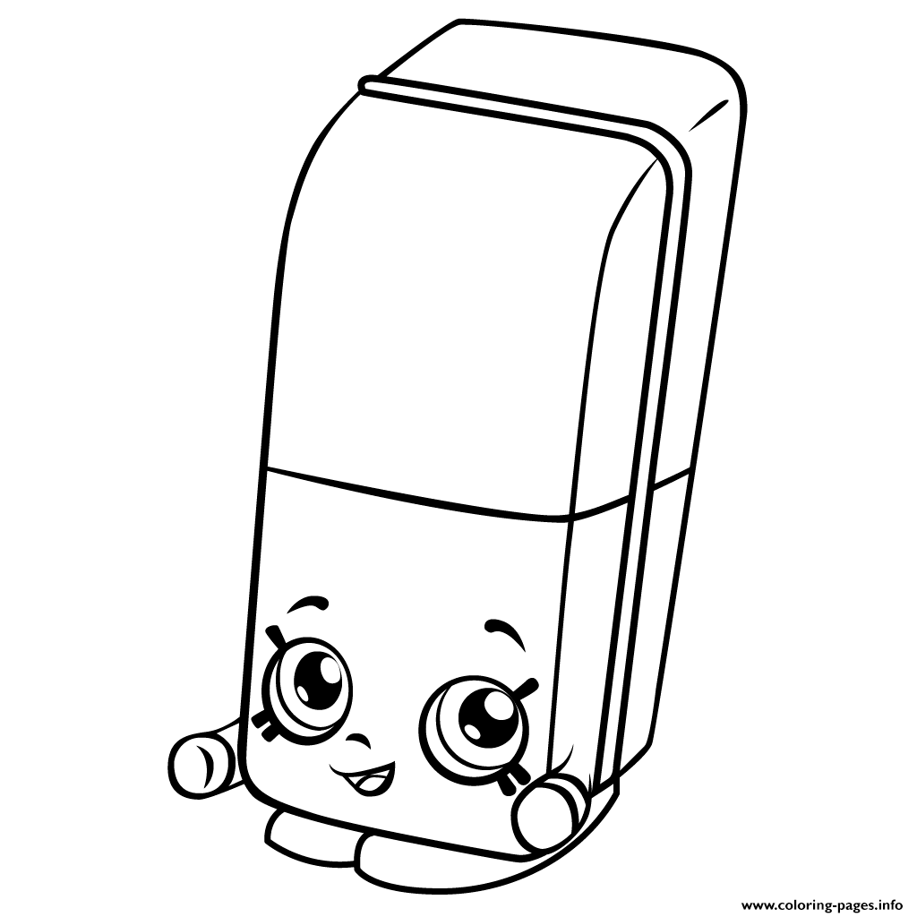 Print Free Erica Eraser Shopkins Season 3 Coloring Pages