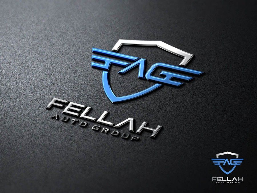 Create a logo for fellah auto group used car dealer by
