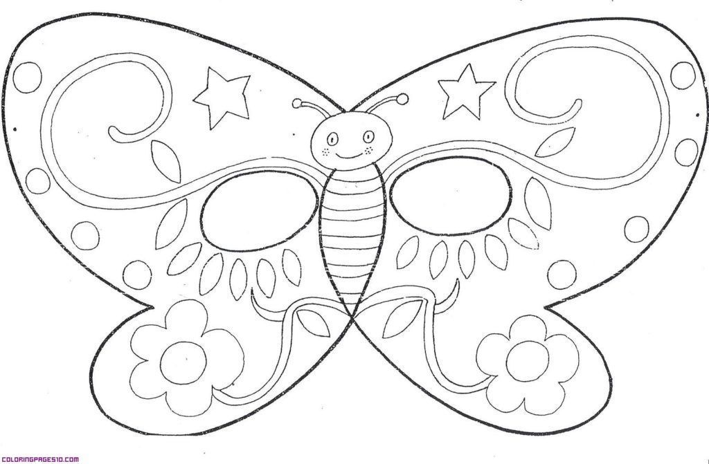 Butterfly Mask Coloring Page Throughout Butterfly Mask Template Butterfly Coloring Page Butterfly Mask Free Coloring Pages