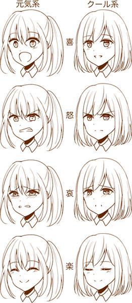 7つのポイントを意識しよう! 繊細な表情の描き方講座【2020】 アニメの女の子のデッサン、人物 イラスト、顔 絵