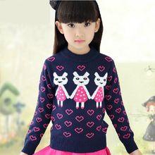ee80402ab Kids Girls Print Sweaters Children s Autumn Cartoon Clothes Winter ...