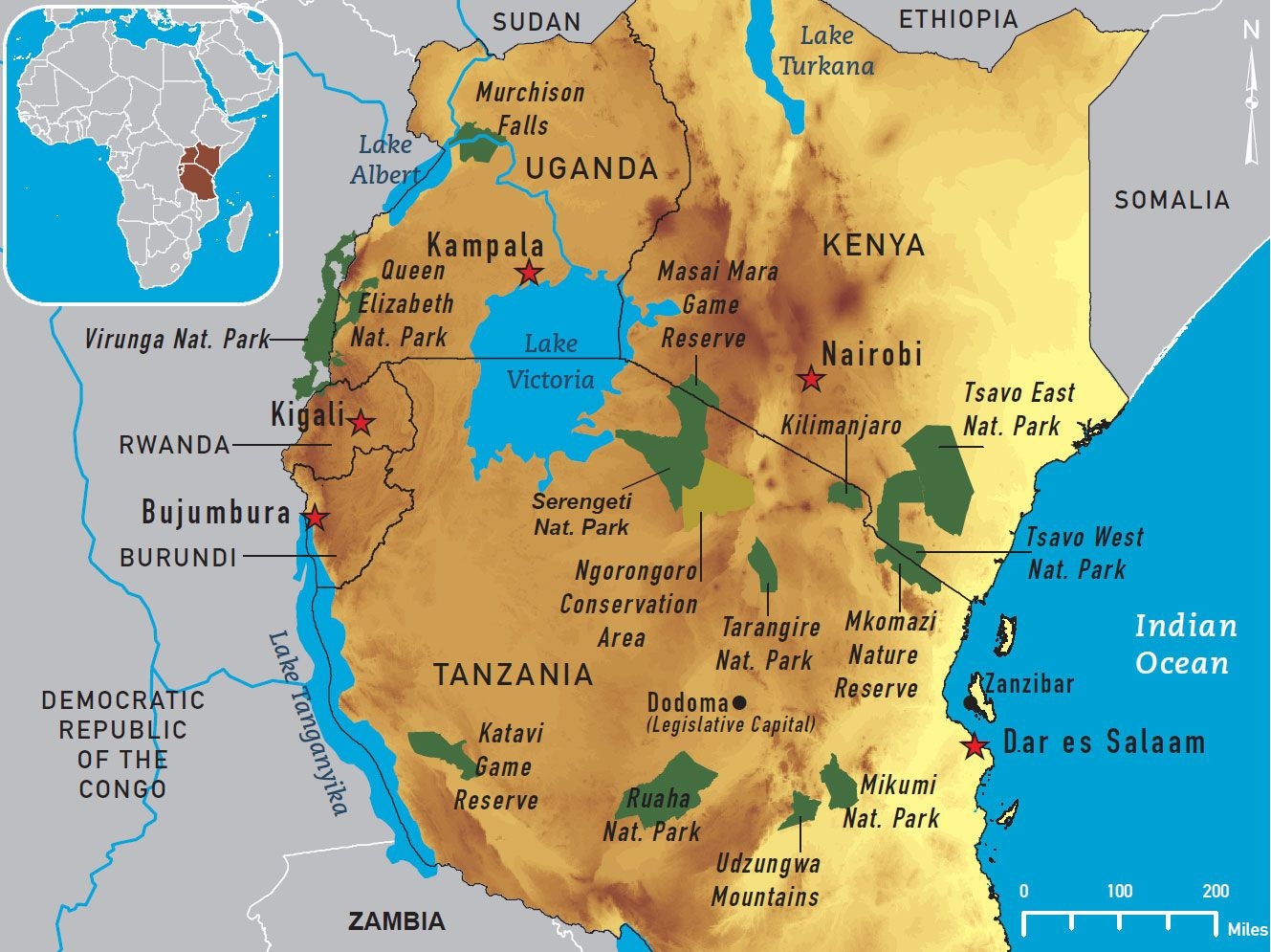 map of central Africa national parks | Map 4 12. East Africa