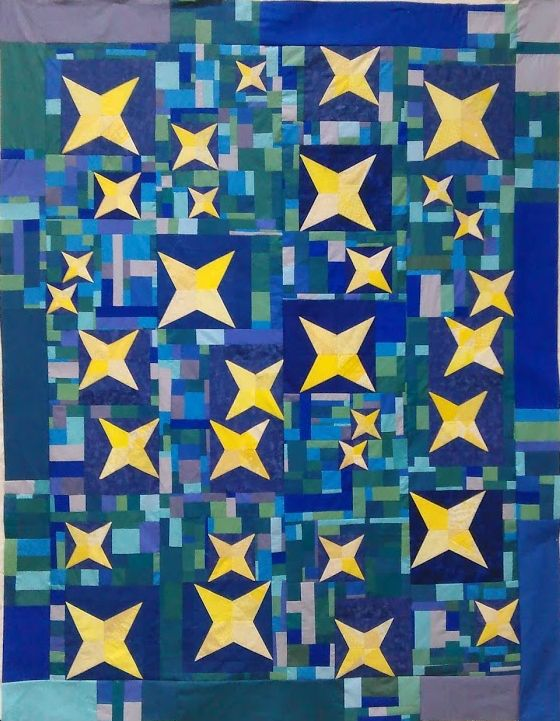 Quiltcon Charity Quilt Spotlight Star In Your Future By The Asheville Mqg Quilts Modern Quilts Quilt Guild