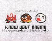 Legend of Zelda - Link's Awakening - Band Sampler Cross Stitch PATTERN. $5.00, via Etsy.