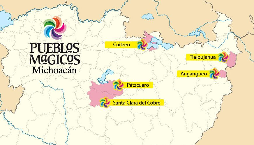Here is a map locating all the Magical Towns (Pueblos ...