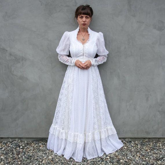 Vintage Lace Gunne Sax Renaissance Wedding by HighwayChildren