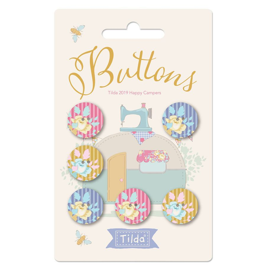 17 Tiny Pink Flower Buttons