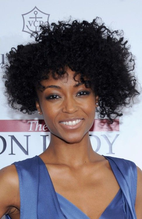 Natural Curly Hairstyles For African American Womens | Asymmetrical ...
