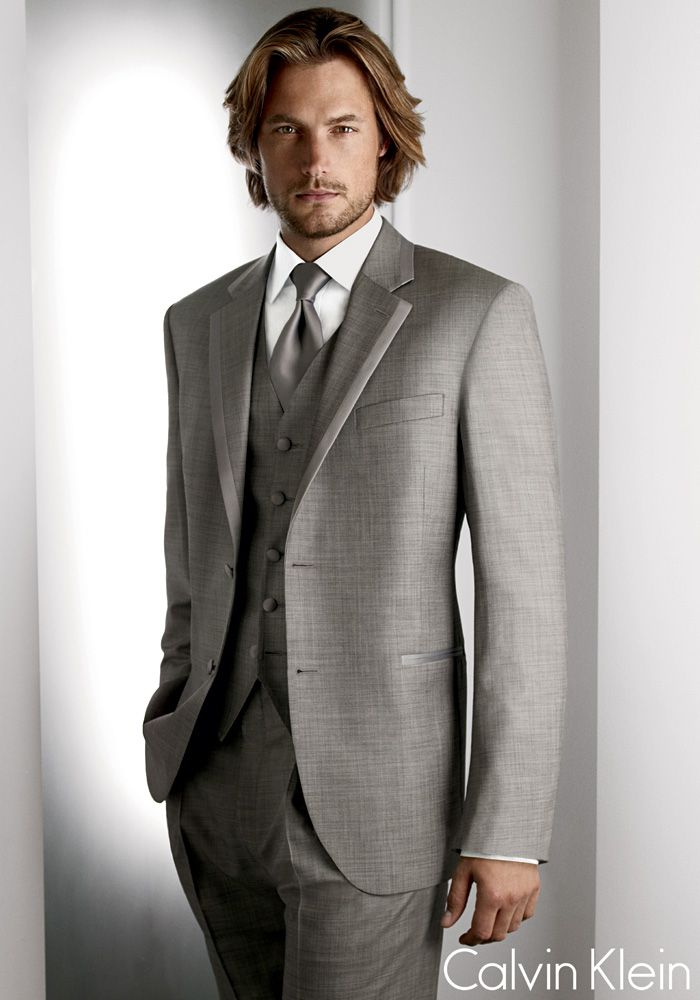 I wonder if my future husband knows he will be wearing a grey tuxedo ...