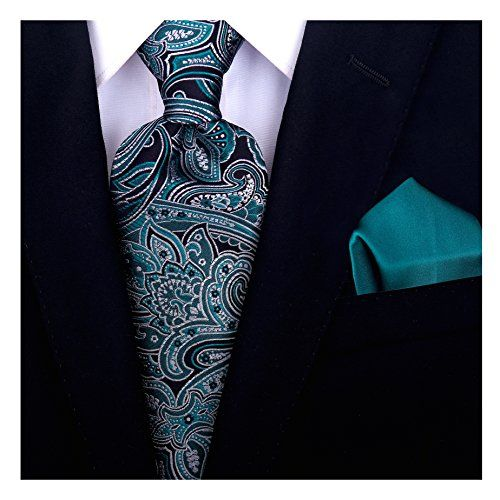 Necktie - Woven Jacquard silk in solid dark turquoise Notch 0wpnY