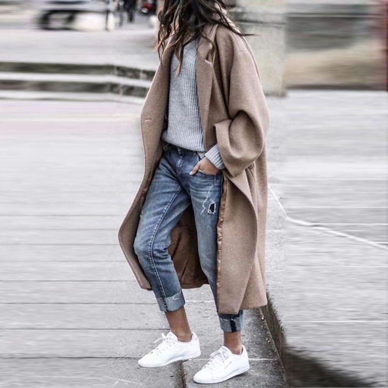 Women Long Outerwear Warm Fashion Coat
