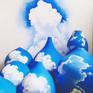 porcelain handpainted clouds sky - Szukaj w Google