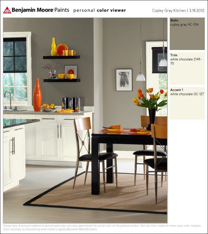 Grey Kitchen Paint: BM Copley Gray Kitchen