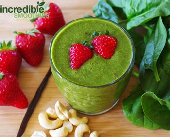 Strawberry Shortcake Green Smoothie Recipe