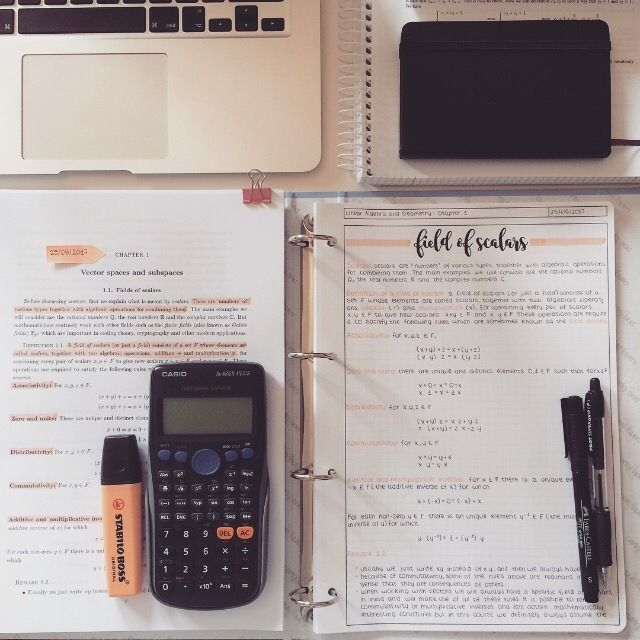 Orange Linear Algebra notes - Mara E. #aestheticnotes