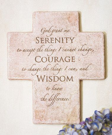 another great find on zulily serenity prayer cross wall dcor by abbey press