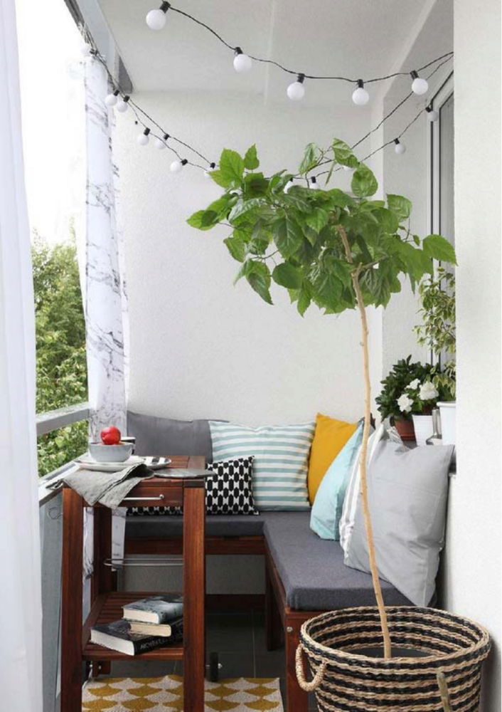 Do You Have A Tiny Balcony Or Patio? Here Are Seven Small Furniture Ideas  For Your Outdoor Space. For More Small Space Tips And Hacks, Head To Domino.