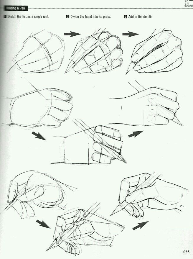 how to draw a hand holding another hand