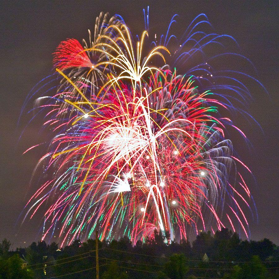Lunar Crescent Fireworks Wallpaper Fireworks Photography Fireworks
