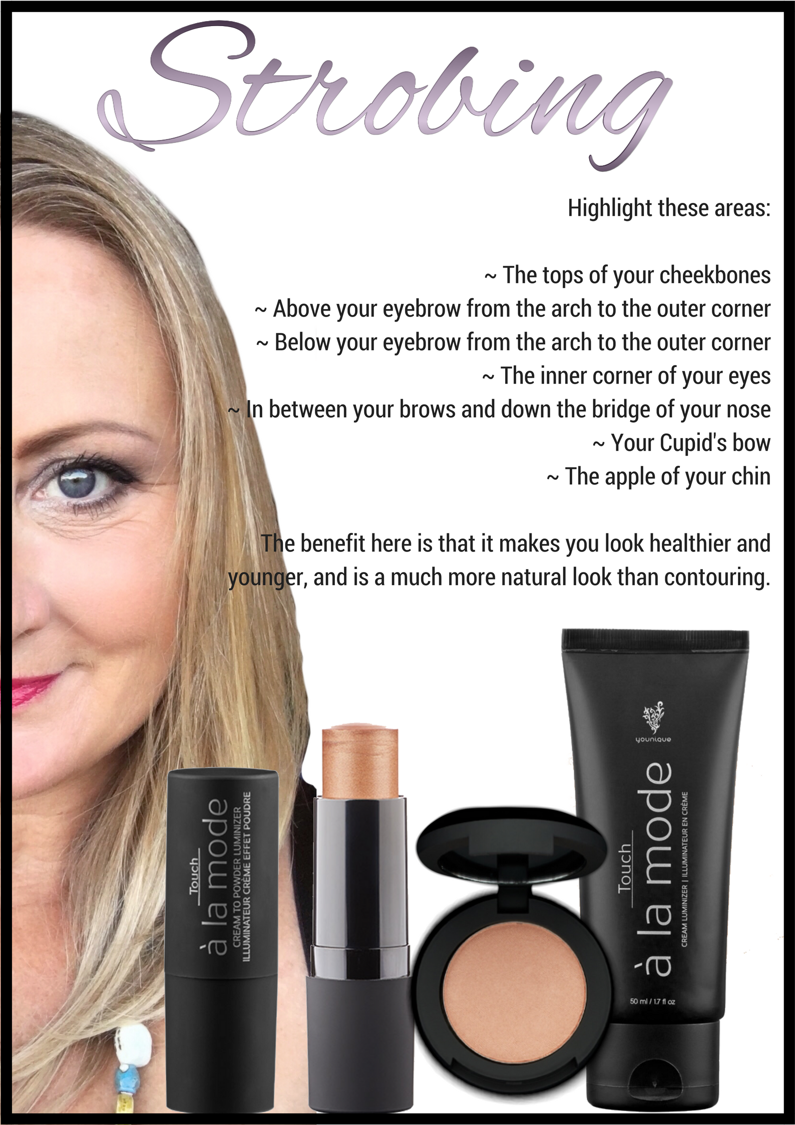 How To Strobe Highlighting Made Easy Younique Beauty Younique Cosmetics Younique Makeup