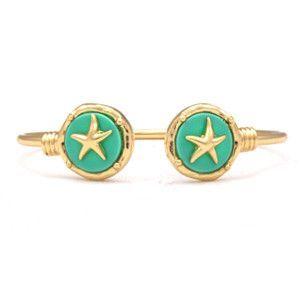 Seashore Starfish Cuff - Mint
