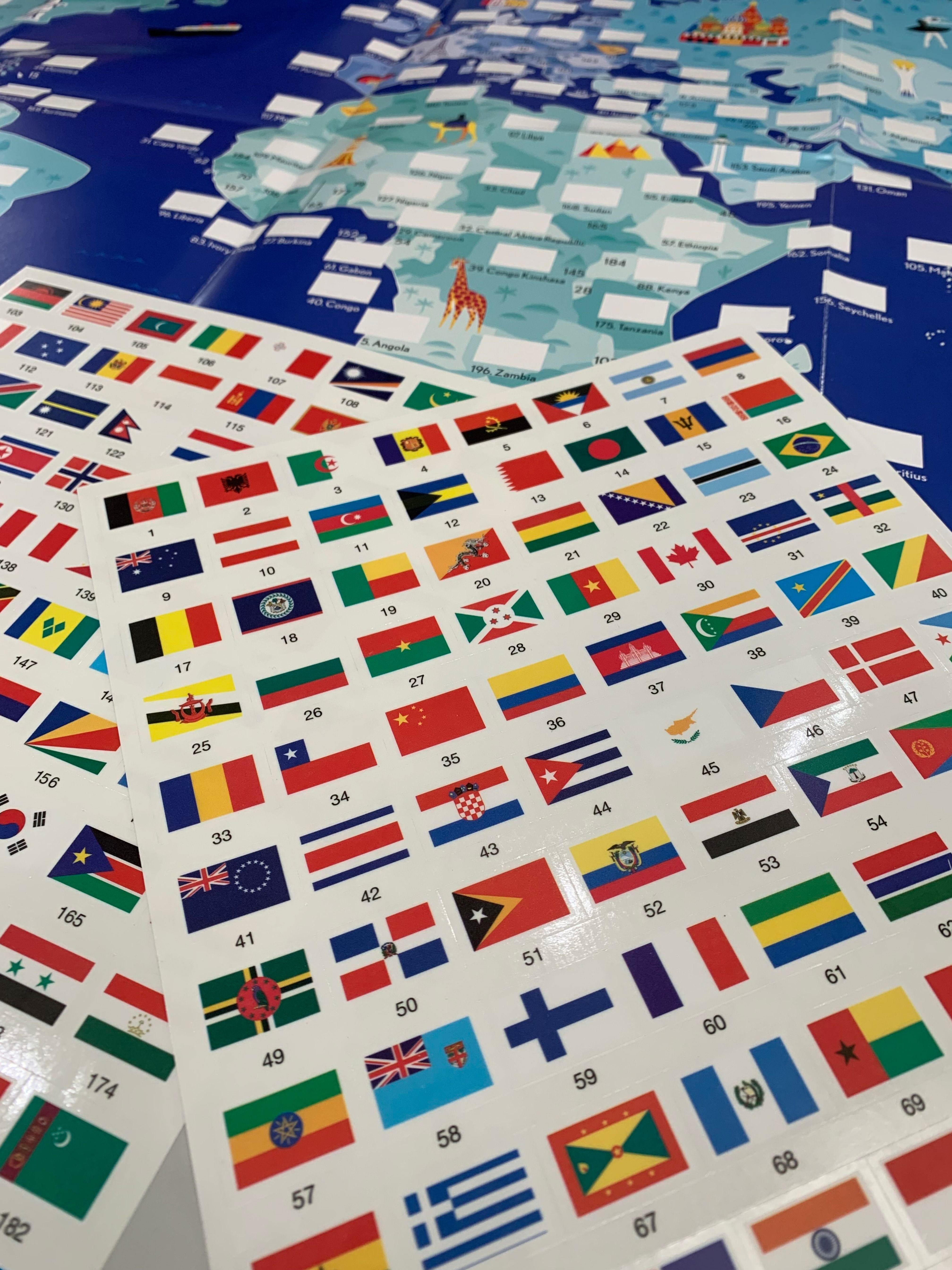 banderas de todos los paises del mundo y sus nombres