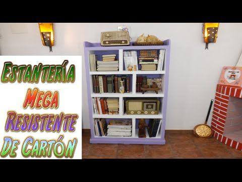 DIY Estantería hecha con Cartón para Libros - TUTORIALES muebles ...