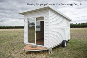 Trailer Mobile House With Glass Sliding Door In 2020 Sliding Glass Door Sliding Doors Roof Panels