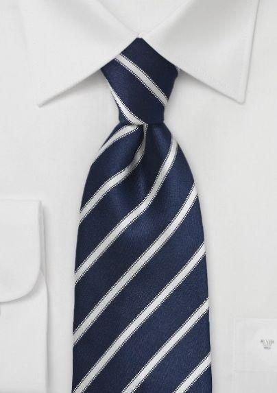 Black and White Repp Stripe On Silver Men/'s Woven Necktie Hand-Made Microfiber