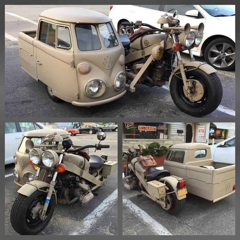 Vw Motorcycle Bus Sidecar Custom Motorcycles