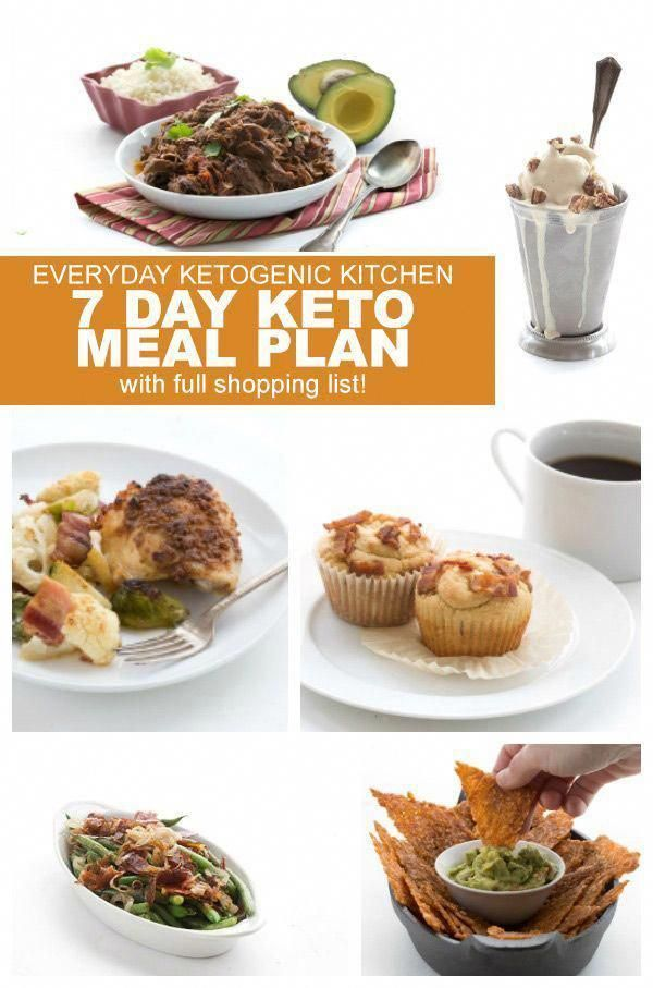 A full 7-day keto meal plan, including every meal..