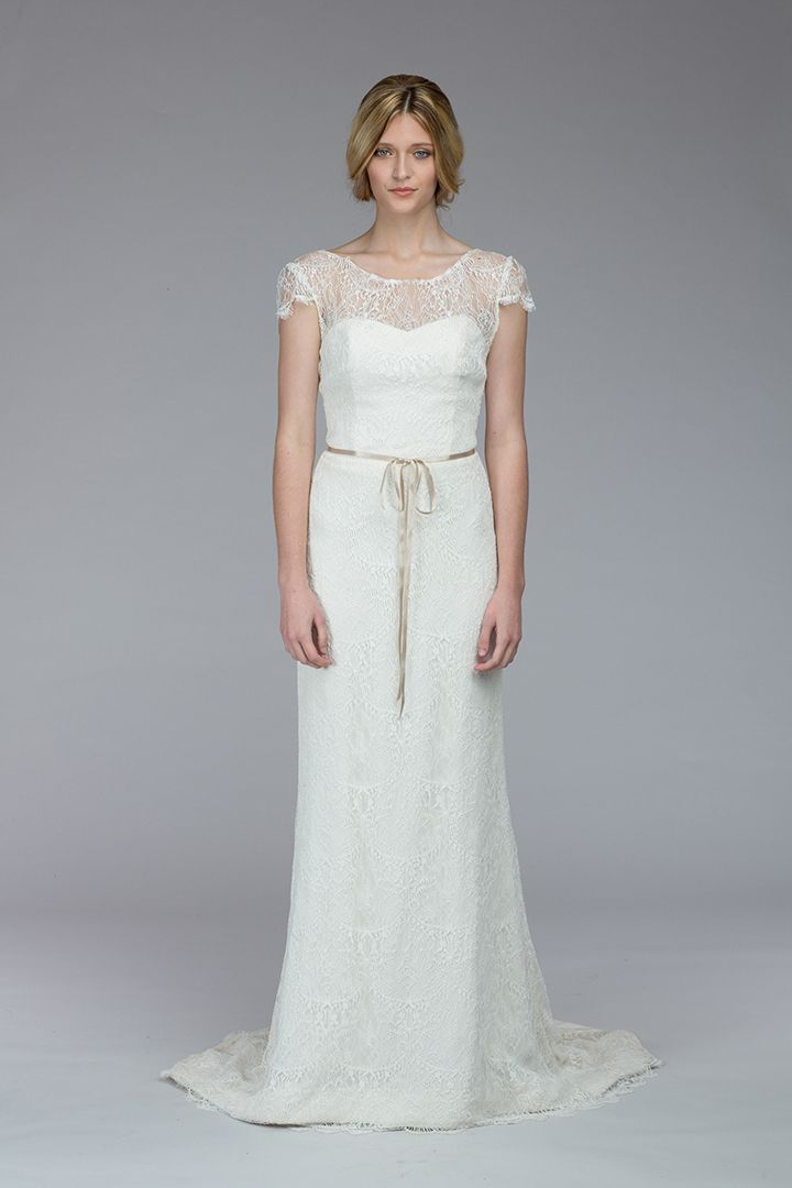 Love the lace neckline + sleeves from the Stanwyck dress by Kate McDonald!