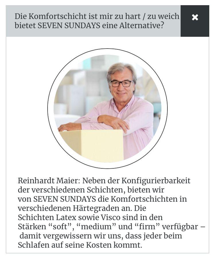 Pin Von Roland Paul Schlotter Auf 7sundays Matratzen Die Besten Der Welt Matratze Lausen Firmen