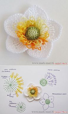 Gestrickte Anemone häkeln. Meisterklasse: Tag - Young Lady Fashion #crochetflowers