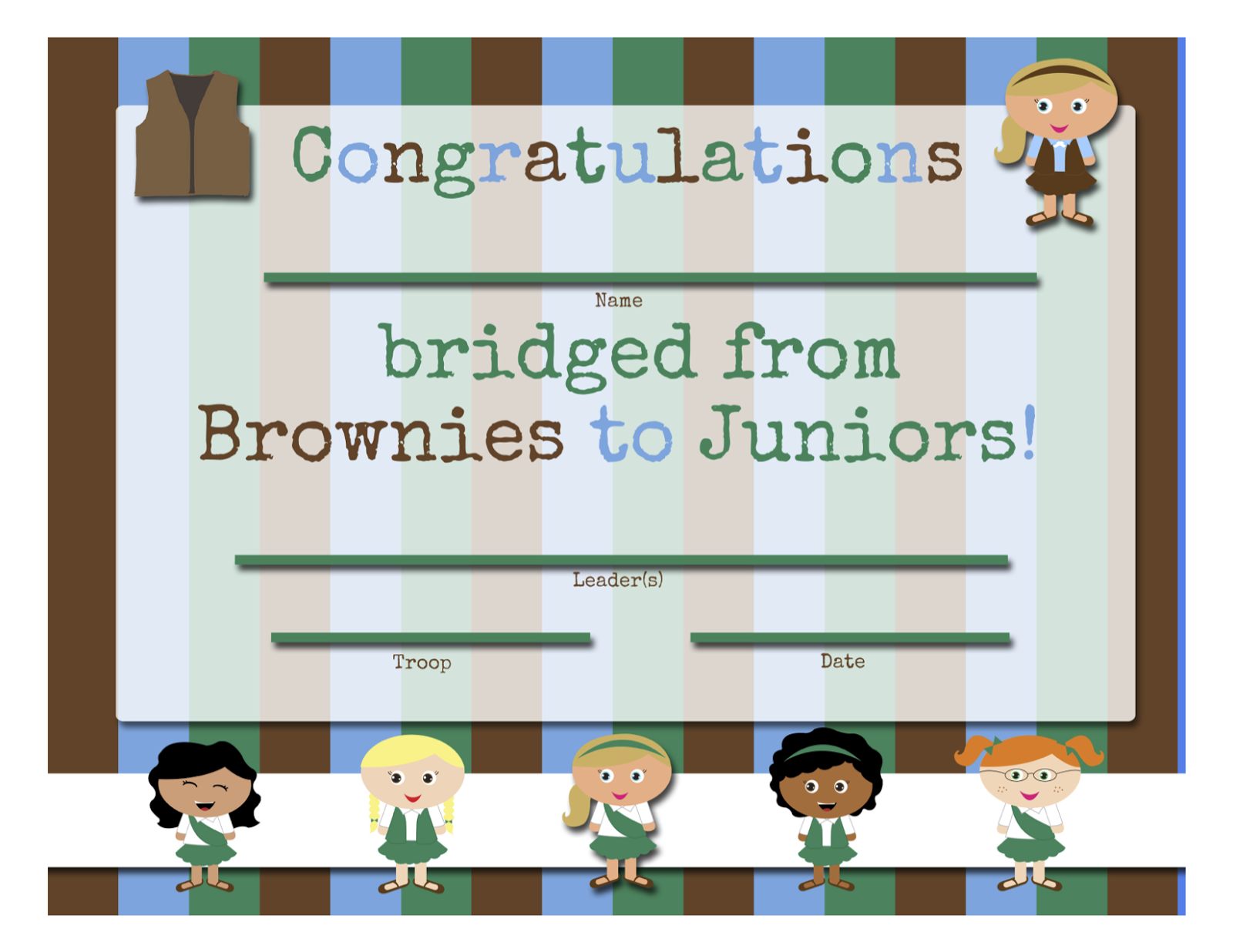 Girl Scouts Free Printable Bridging Certificates