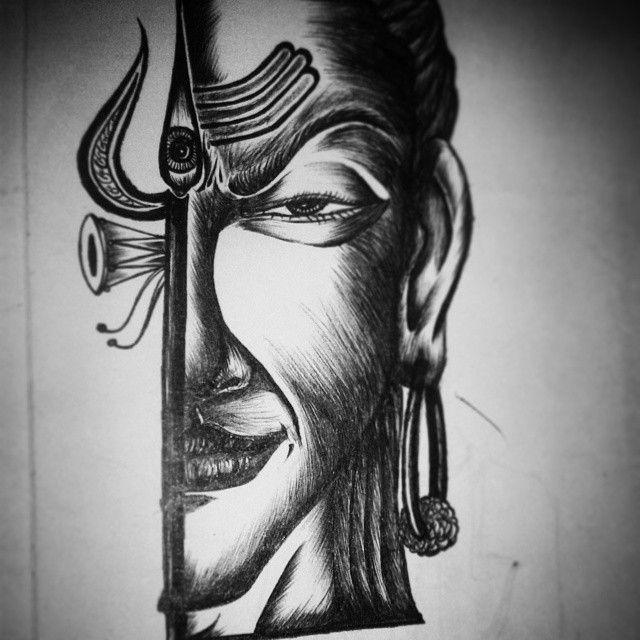 Pencil Art God Shiva Pencil Drawing