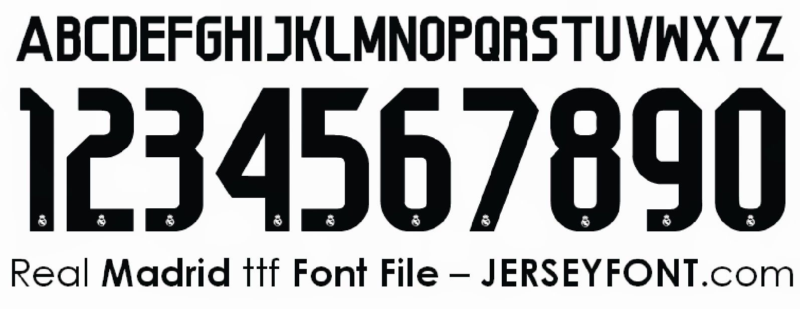 Real Madrid Font Jersey Font Real Madrid Sports Fonts
