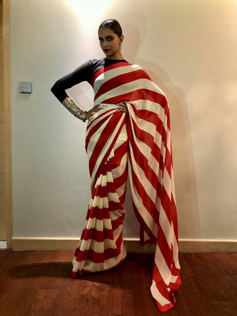 Bollywood Actress Deepika Padukone In Sabyasachi Red Saree Saree Elegant Saree Sabyasachi Sarees