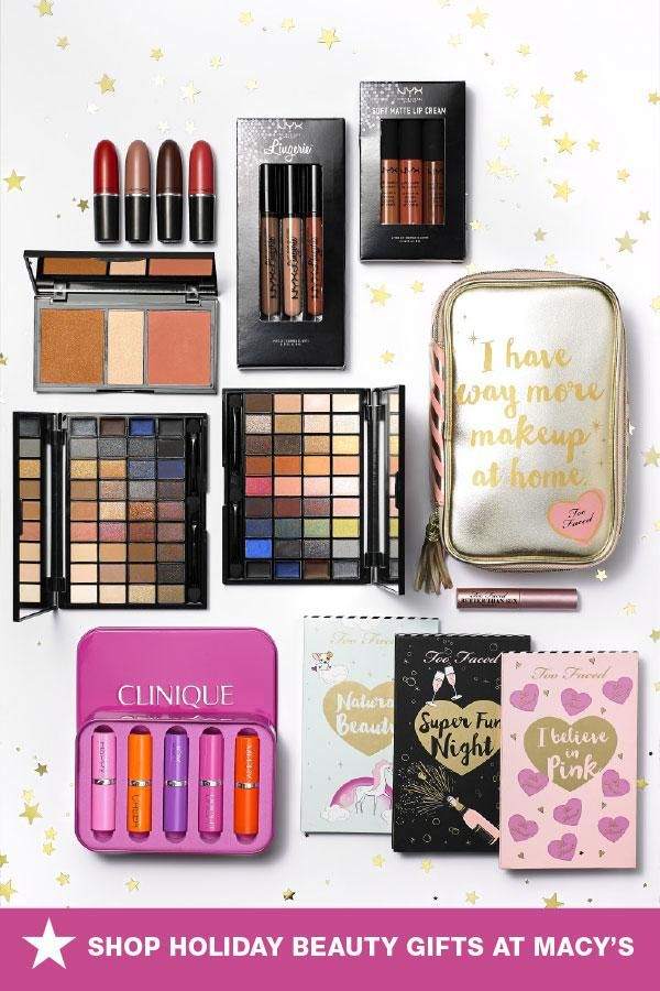 Give The Gift Of Beauty This Holiday Season With Festive Sets Of The Best Lip Colors Eye Shadow Shades And Pretty Face Makeup Gift Makeup At Home Beauty Gift