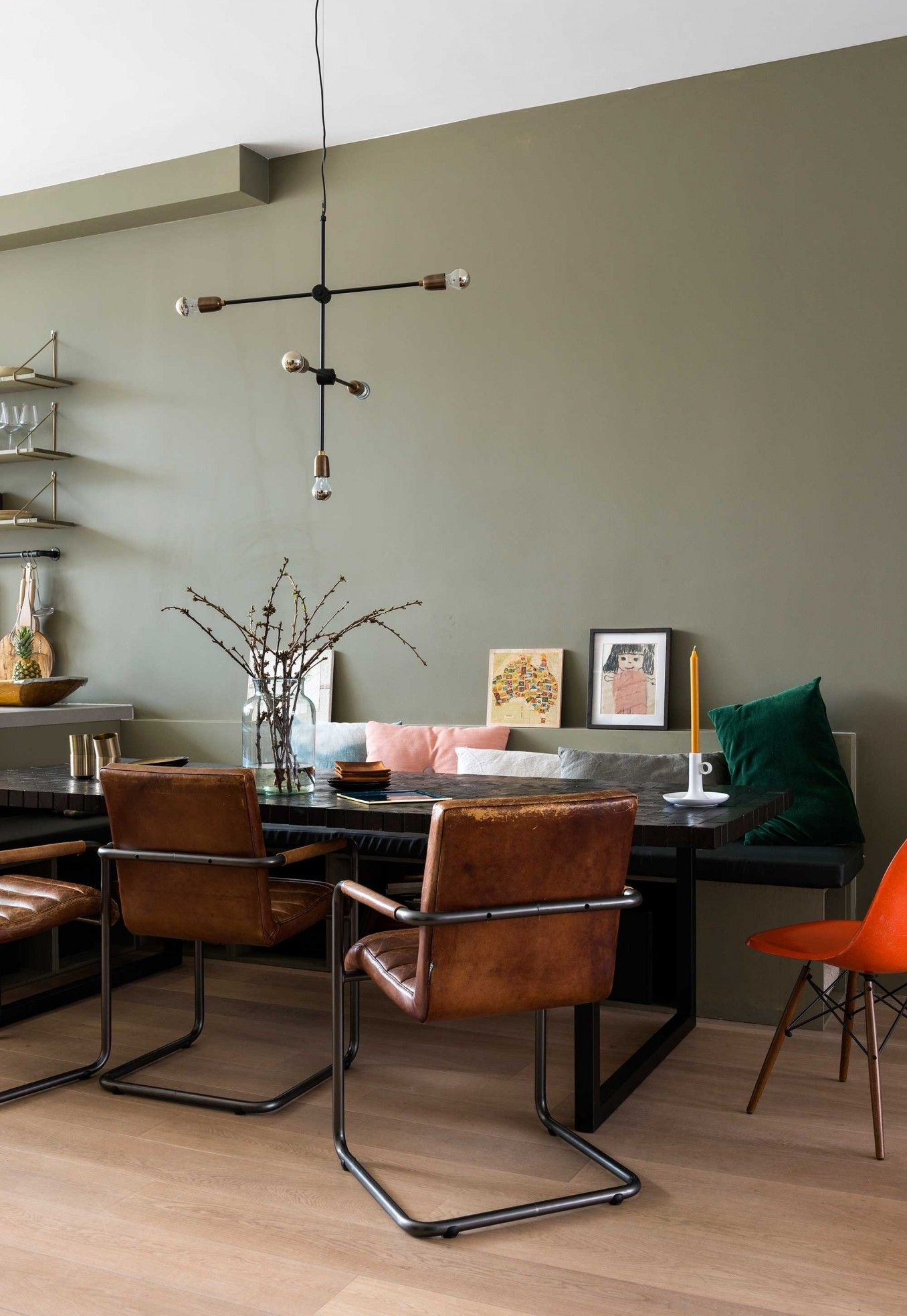 6 groene wand eethoek interieur pinterest wandfarbe wohnideen und einrichtung. Black Bedroom Furniture Sets. Home Design Ideas