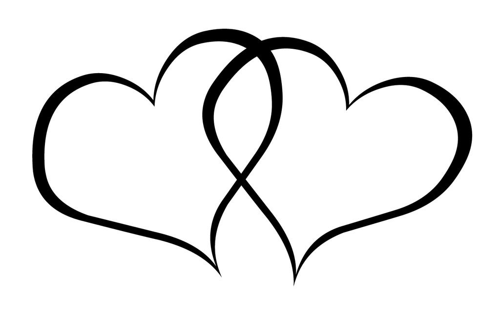 black and white heart clip art free wedding heart clipart diy rh pinterest com  clipart images of double heart