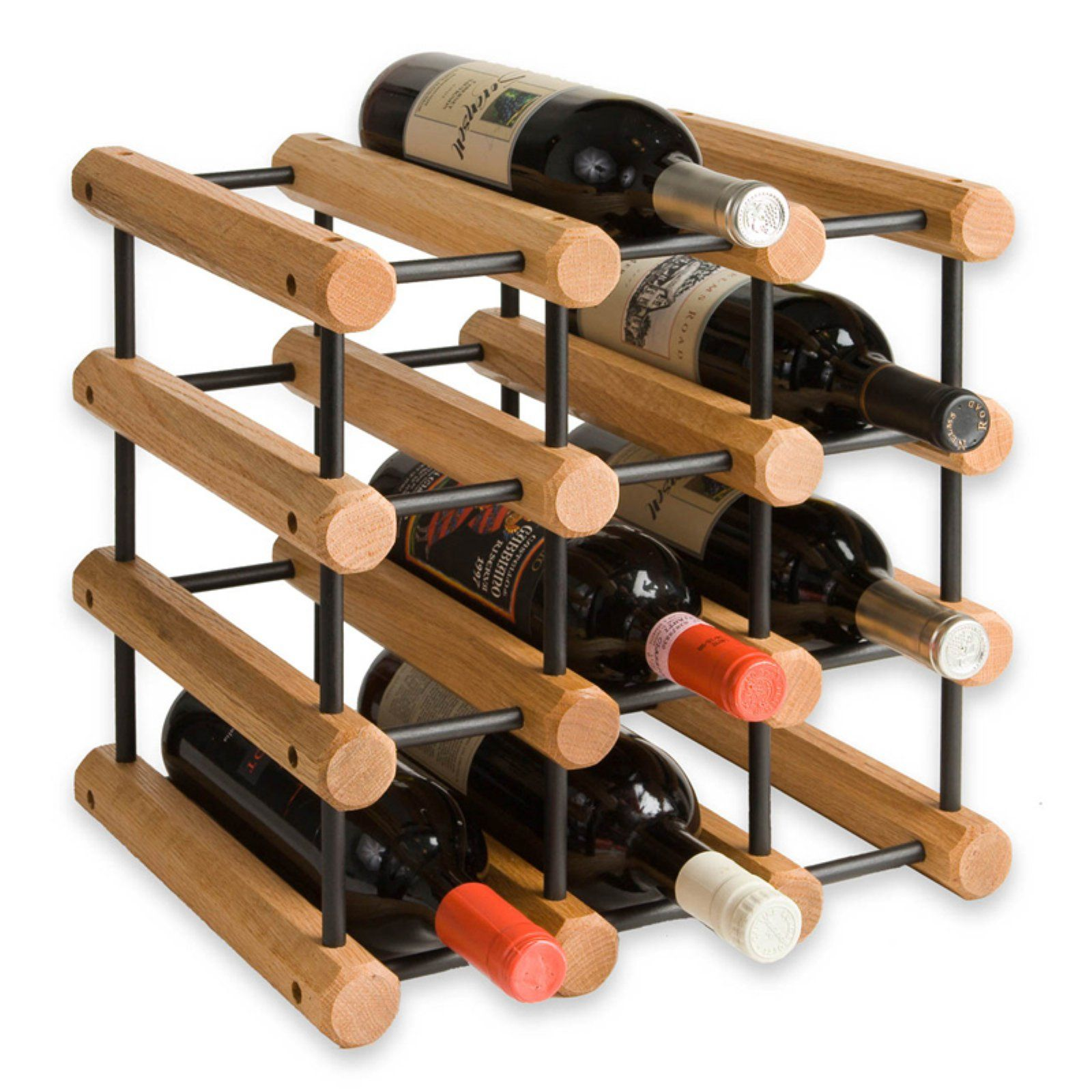Wooden Octagonal Wine Rack 12 Or 40 Bottles 12 Bottles Wood Wine Racks Wine Rack Wine Rack Storage