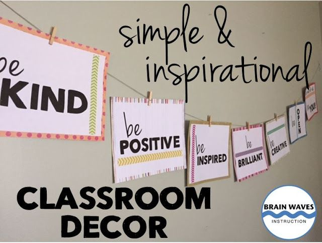 simple classroom decor