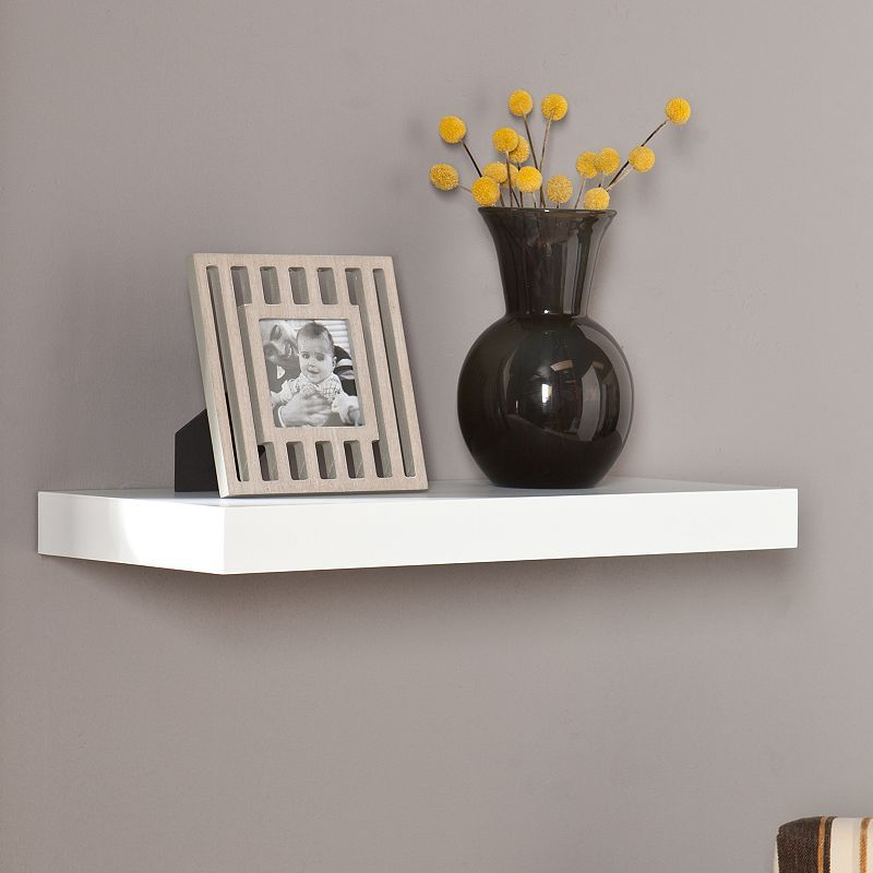 Southern Enterprises Cleveland 24 In Floating Wall Shelf Rustic Floating Shelves Floating Shelves Floating Wall Shelves